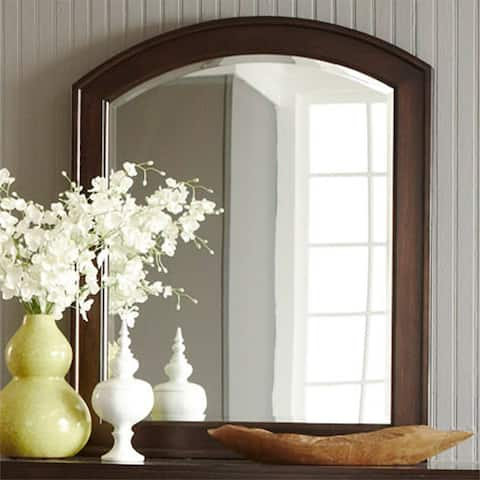 Avalon Dark Truffle Mirror - Brown