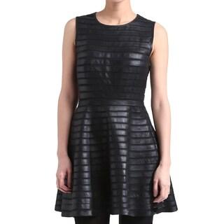 Women's Black Leather Dress