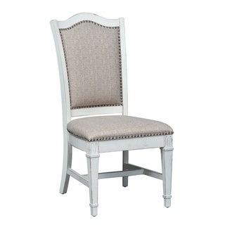 Abbey Park Antique White Upholstered Side Chair (Set of 2)