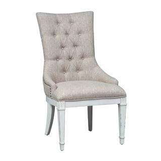 Abbey Park Antique White Hostess Chair (Set of 2)
