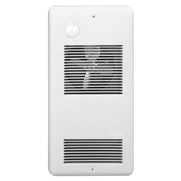 Stelpro ARWF2002TW 2000 Watt 240 Volt White PULSAIR™ Wall Fan Heater With Integrated Mechanical Thermostat
