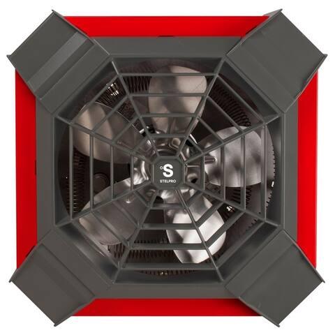 Stelpro ASGH4002R 4000 Watt Red/Grey Garage Ceiling Fan Heater