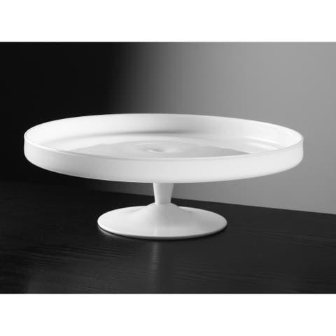 Majestic Gifts Inc. European Glass White Cake Plate