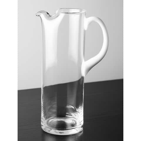 Majestic Gifts Inc. European Glass Pitcher w/ White Handle
