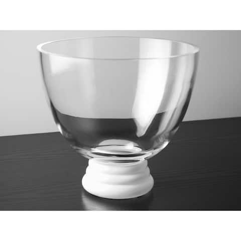 Majestic Gifts Inc. European Glass Bowl w/ White Base