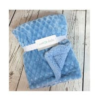 Diamond Plush Sherpa Baby Blanket