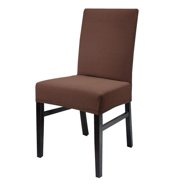 Fitted Dining Room Chair Covers: Shop Chiara Rose Sure Fit Stretch Spandex Knitted Dining