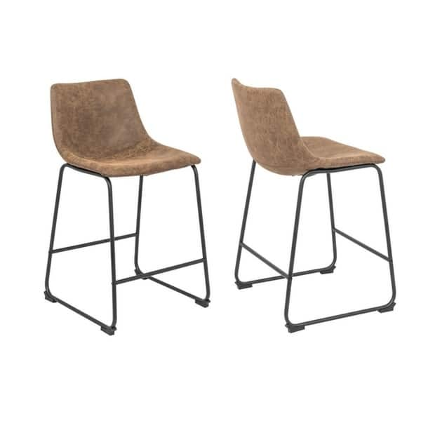 Astonishing Shop Milana 25 Vintage Faux Leather Bar Stool Set Of 2 Caraccident5 Cool Chair Designs And Ideas Caraccident5Info