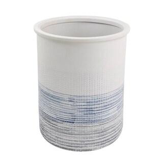 Croscill Nomad Blue Stripe Wastebasket