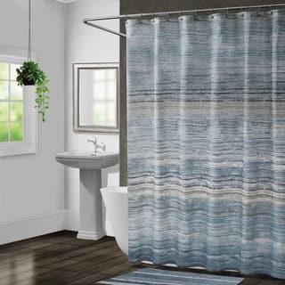 Croscill Nomad Blue Stripe Shower Curtain