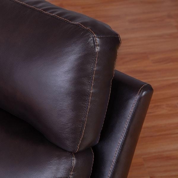 Astonishing Shop Abbyson Wellington Top Grain Leather Brown Sofa And Machost Co Dining Chair Design Ideas Machostcouk