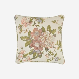 "Croscill Carlotta 18"" Floral Square Pillow"