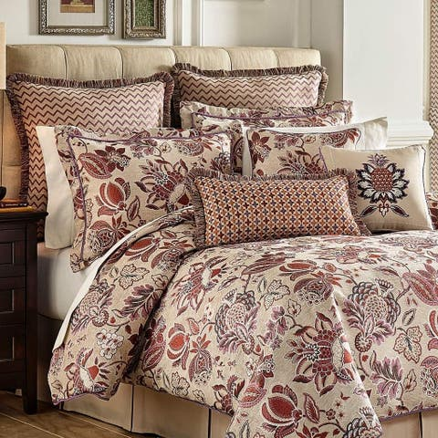 Croscill Lauryn Jacobean Jacquard 4 Piece Comforter Set