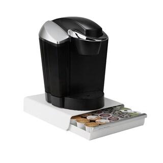 Mind Reader 30 Capacity K-Cup Single Serve Coffee Pod Storage Organizer Drawer, White