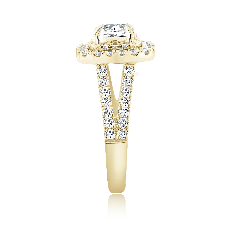 Halo Clous D/'Oreilles Avec Lab Diamant /& Tanzanite//Argent Sterling 925//9.2 mm