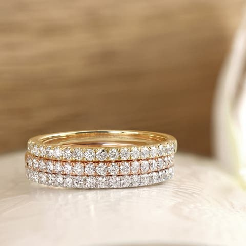 Ethical Sparkle 1/4ctw Lab Grown Diamond Wedding Band 14k Gold