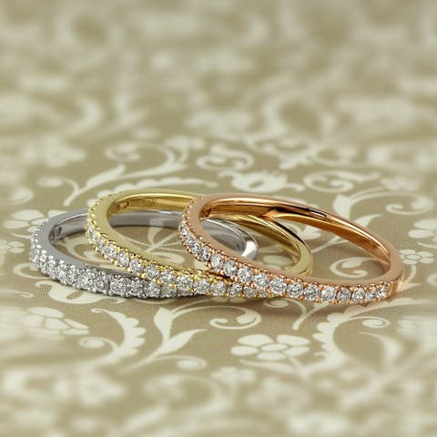 Round 1/4ctw Lab Grown Diamond Wedding Band 14k Gold by Ethical Sparkle