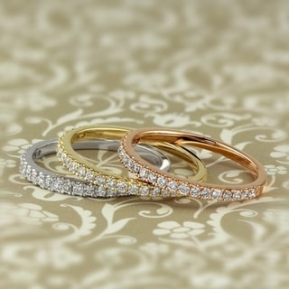 Link to Lab Grown 1/4ctw Diamond Wedding Band 14k Gold by Ethical Sparkle Similar Items in Wedding Rings