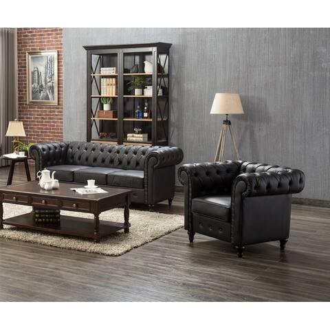 Teressa 2 Piece Living Room Sofa/ Chair Set