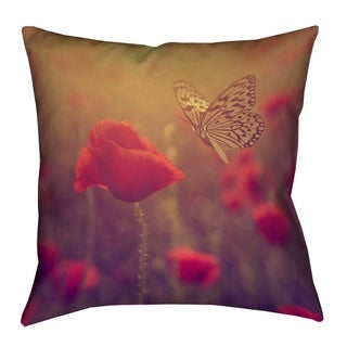 Justin Duane Butterfly and Rose Floor Pillow