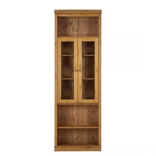 Anita 86-inch tall Showcase with 2 Glass Doors, solid pine