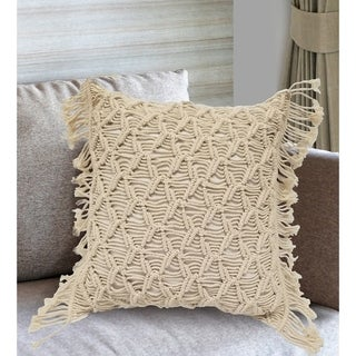 Home Collection Mihir Decorative Pillow Cover with Fringe