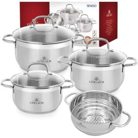 BRAVA Stainless Steel Pot Set with Steamer 7pcs
