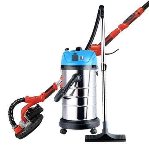 ALEKO Combo Kit Drywall 750W Sander 690L with Wet Dry Vacuum Cleaner