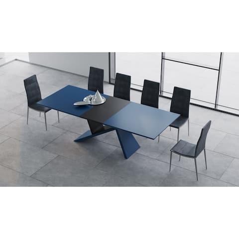 B-Modern Artiste - Blue Extension Modern Dining Table