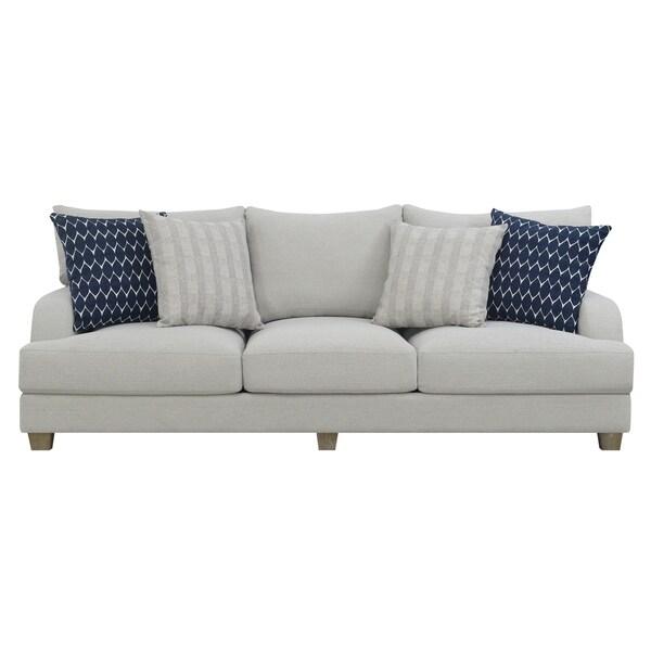 Enjoyable Shop Emerald Home Laney Harbor Gray 102 Sofa With Pillows Interior Design Ideas Tzicisoteloinfo