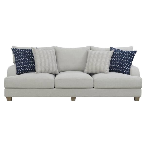 Surprising Shop Emerald Home Laney Harbor Gray 102 Sofa With Pillows Machost Co Dining Chair Design Ideas Machostcouk