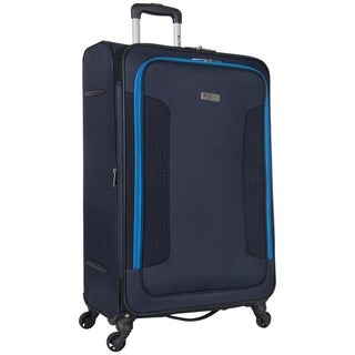 Ben Sherman Houndstooth Hike 28-Inch Softside Expandable 4-Wheel Spinner Upright Checked Suitcase