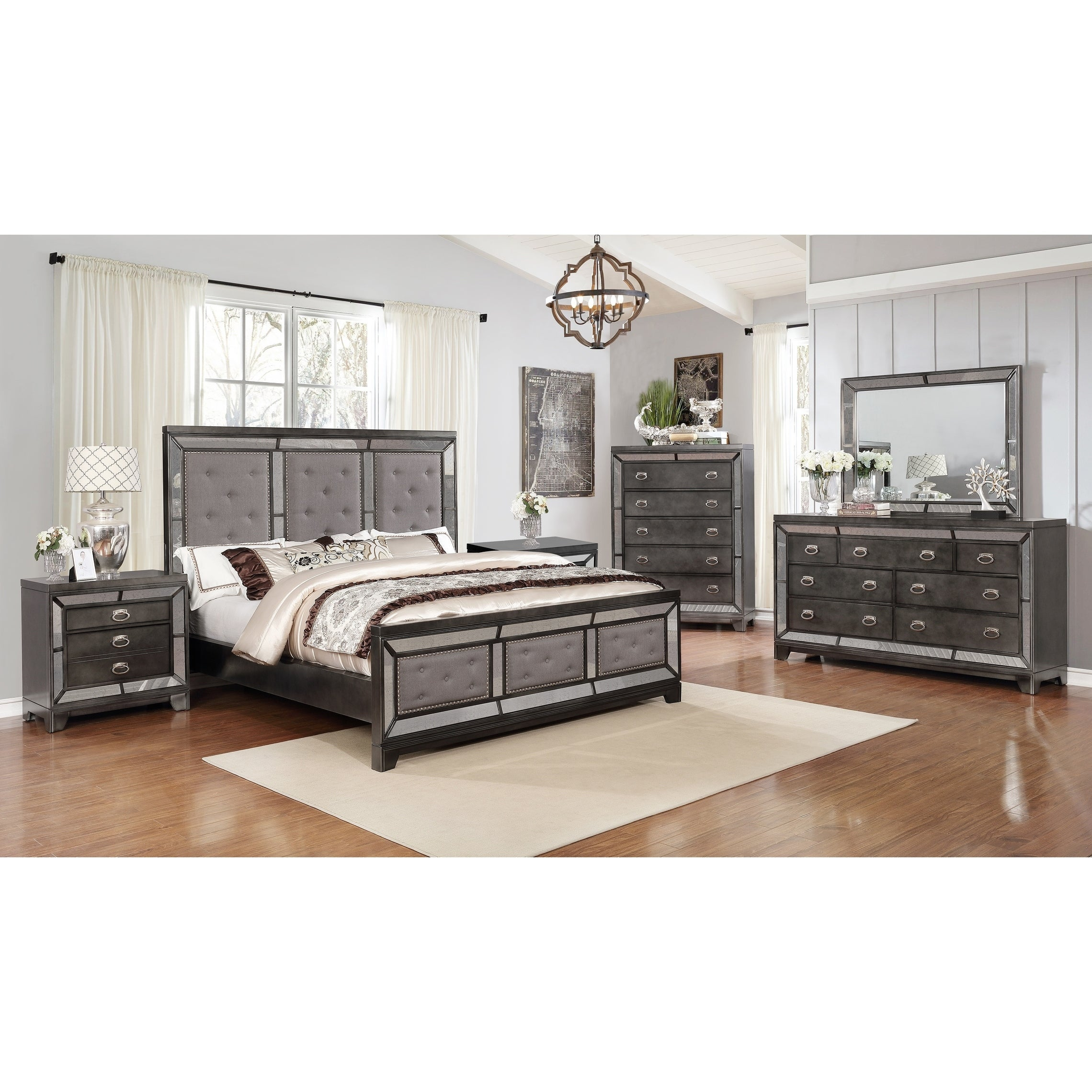 Best Quality Furniture Victoria 6-Piece Bedroom Set