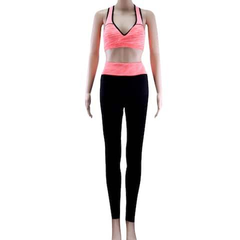 Women's High Waist Yoga Pants Tummy Control Workout Leggings Orange