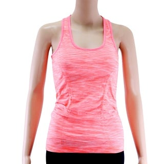 Women's Yoga Tank Tops Stretchy Activewear Racerback Orange