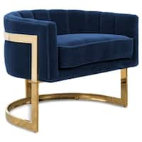 """Ibiza in Shiny Brass and Velvet Occasional Chair - 31"""" w x 26"""" d x 25"""" h/seat: 24"""" d"""
