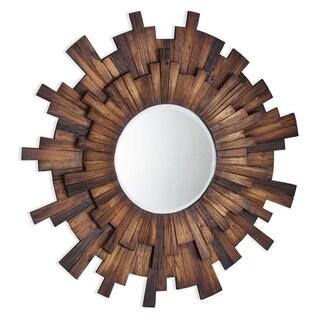 Eden Wood Framed Mirror - Brown/Antique Brown - A/N