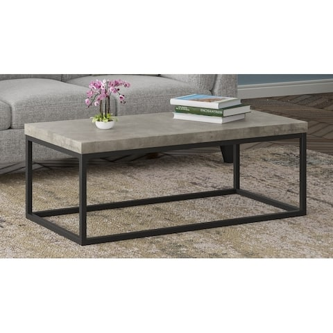 Emerald Home Onyx Concrete Finish Coffee Table
