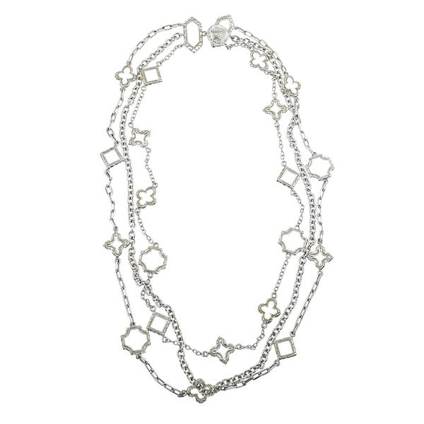 Shop Sterling Silver Layered Charm Necklace