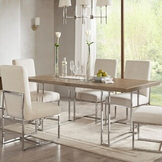 """Madison Park Kors Washed Grey Dining Table - Washed Grey - 72""""w x 36""""d x 30""""h"""