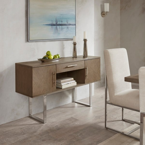 """Madison Park Chock Washed Grey Sideboard - 56""""w x 16""""d x 32""""h"""