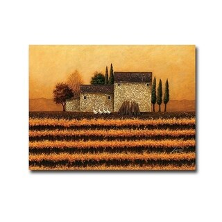 Fall Vineyard by Lowell Herrero Gallery Wrapped Canvas Giclee Art (18 in x 24 in, Ready to Hang)