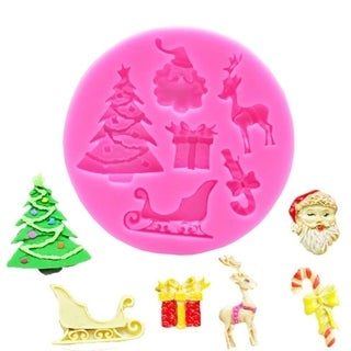 DIY Mould Christmas Tree Santa Silicone Mould Chocolate Cake Fondant Baking Mould