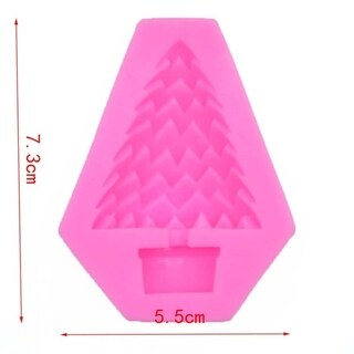 Christmas tree shape fondant silicone mold cake chocolate dry pais decoration mold DIY baking
