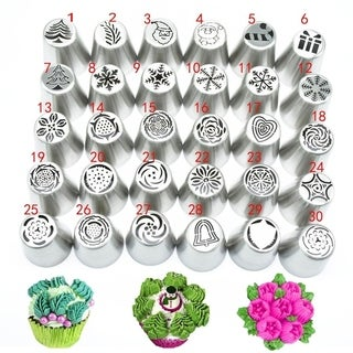 30 Christmas Russian decorating mouth Stainless steel decorating mouth