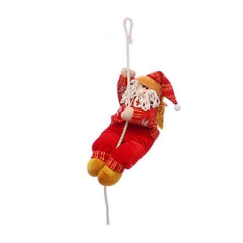Christmas decorations Santa Claus climbing rope doll decoration pendant