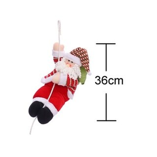 Christmas decorations Santa Claus climbing rope doll decoration pendant