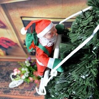 Sweet Christmas Decoration Santa Claus Climbing Stairs Christmas Tree Ornament