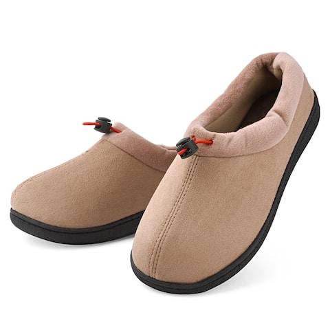 Dasein Women's Winter Warm Comfort Memory Foam Suede Moccasin Slippers - Anti-Slip Lightweight Indoor/Outdoor House Shoes