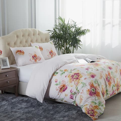 Super Soft Beauty Pattern Printed 3 Piece Duvet Cover Set